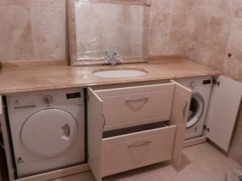 тумбочка в ванную для встраиваемой стиральной машины