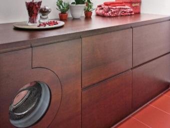 вариант встройки стиральной машины: