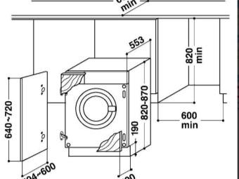 схема встройки стиральной машины