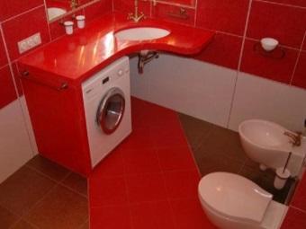 стандарстная стиральная машина-автомат  под столешницей