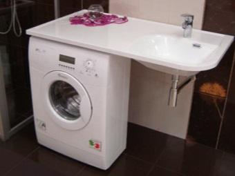 стиральная машина-автомат под столешницей