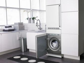 стиральная машина в современном интерьере