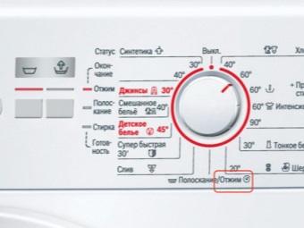 Режим Отжим на стиральной машине