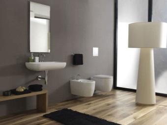 Подвесной унитаз в дизайне ванной