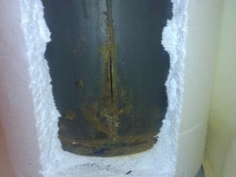Трещина в баке водонагревателя