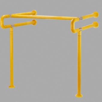 Желтый поручень для раковины