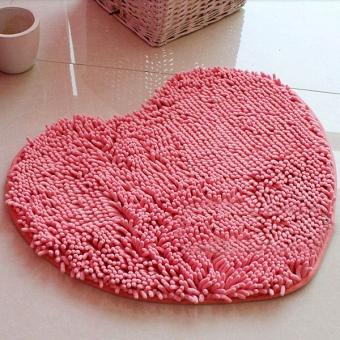 Коврик для ванной в форме сердца