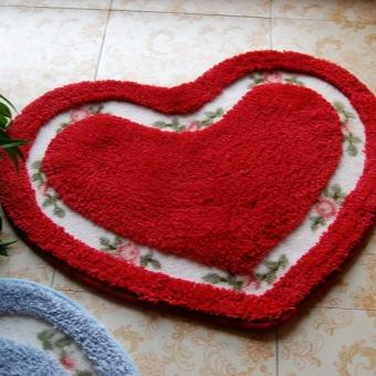 Коврик для романтической ванной в форме сердца