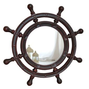 Зеркало для ванной как штурвал