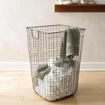 корзина для белья для ванной из металлической проволоки