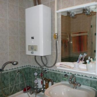 газовая колонка в ванной