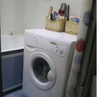 узкая стиральная машина как тумбочка