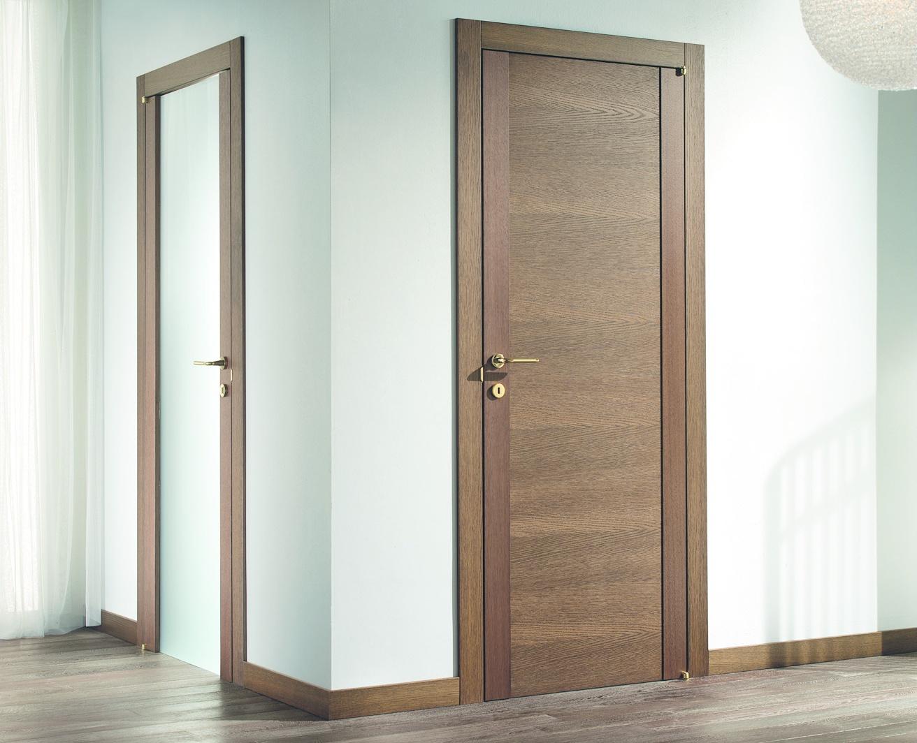 Дизайн двери в ванную туалет