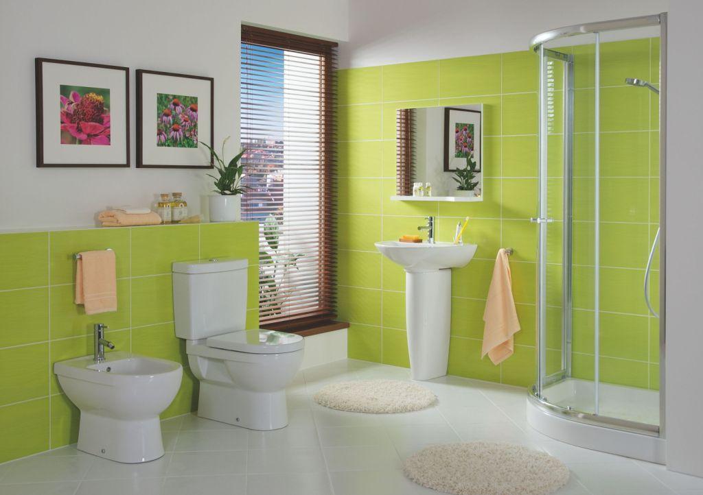 for Salle de bains coloree