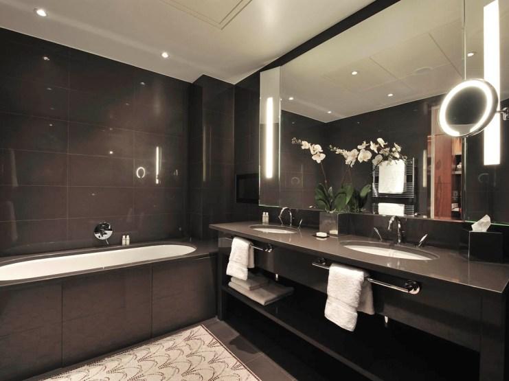Фото черный дизайн ванной