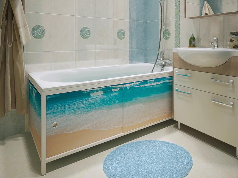 Экран на ванну раздвижной