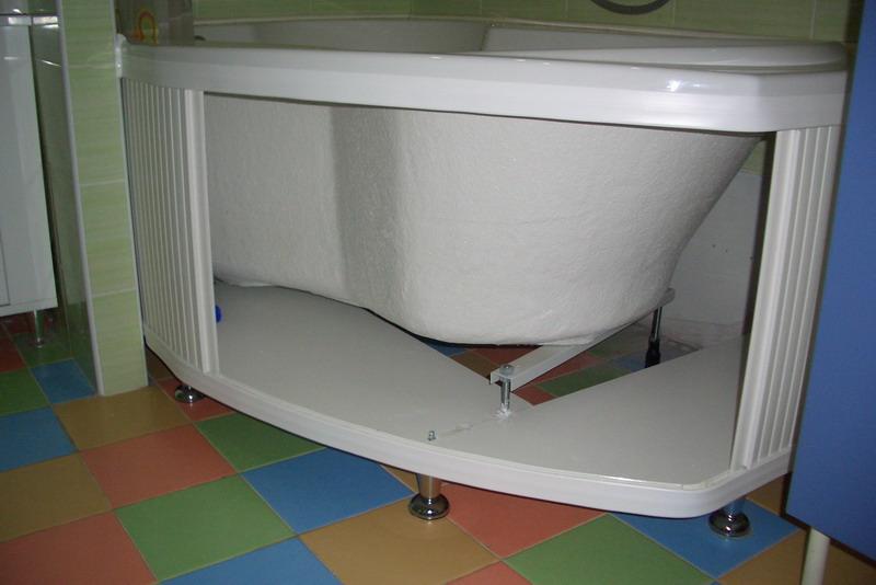 Экран под ванну под плитку своими руками