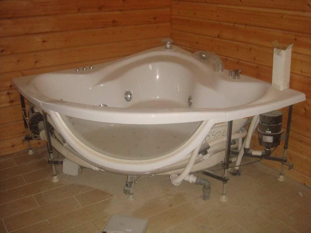 гидромассажные ванные для бани схема установки