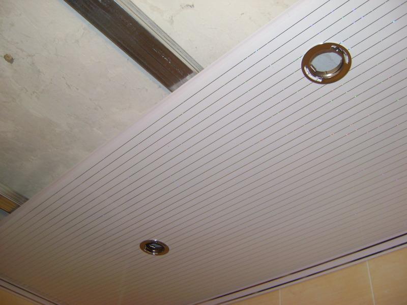 потолочные панели в ванной фото