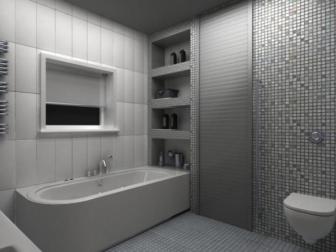 полок из плитки фото в ванной