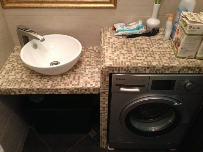 Как сделать встроенную раковину в ванную