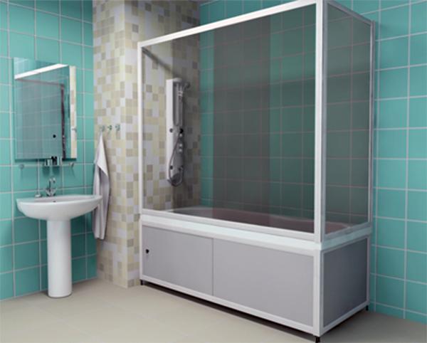 Экран над ванной раздвижной