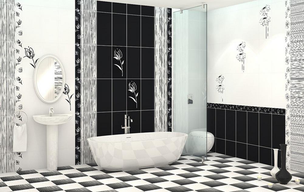 черно белая ванная комната дизайн фото 5