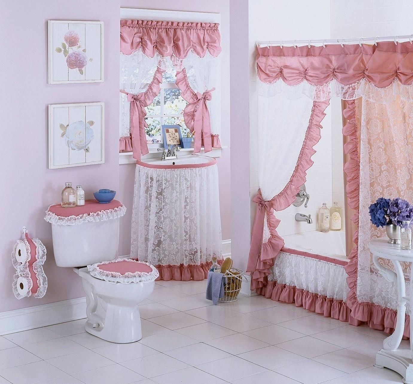 Штора для окна ванной своими руками