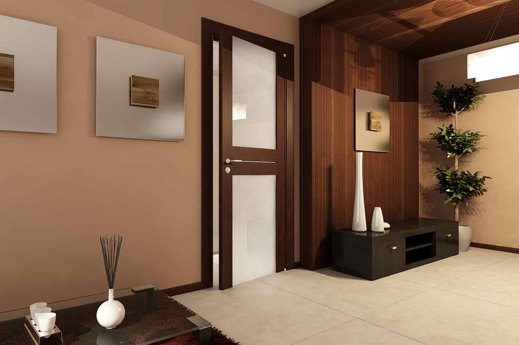 Туалет двери в интерьере