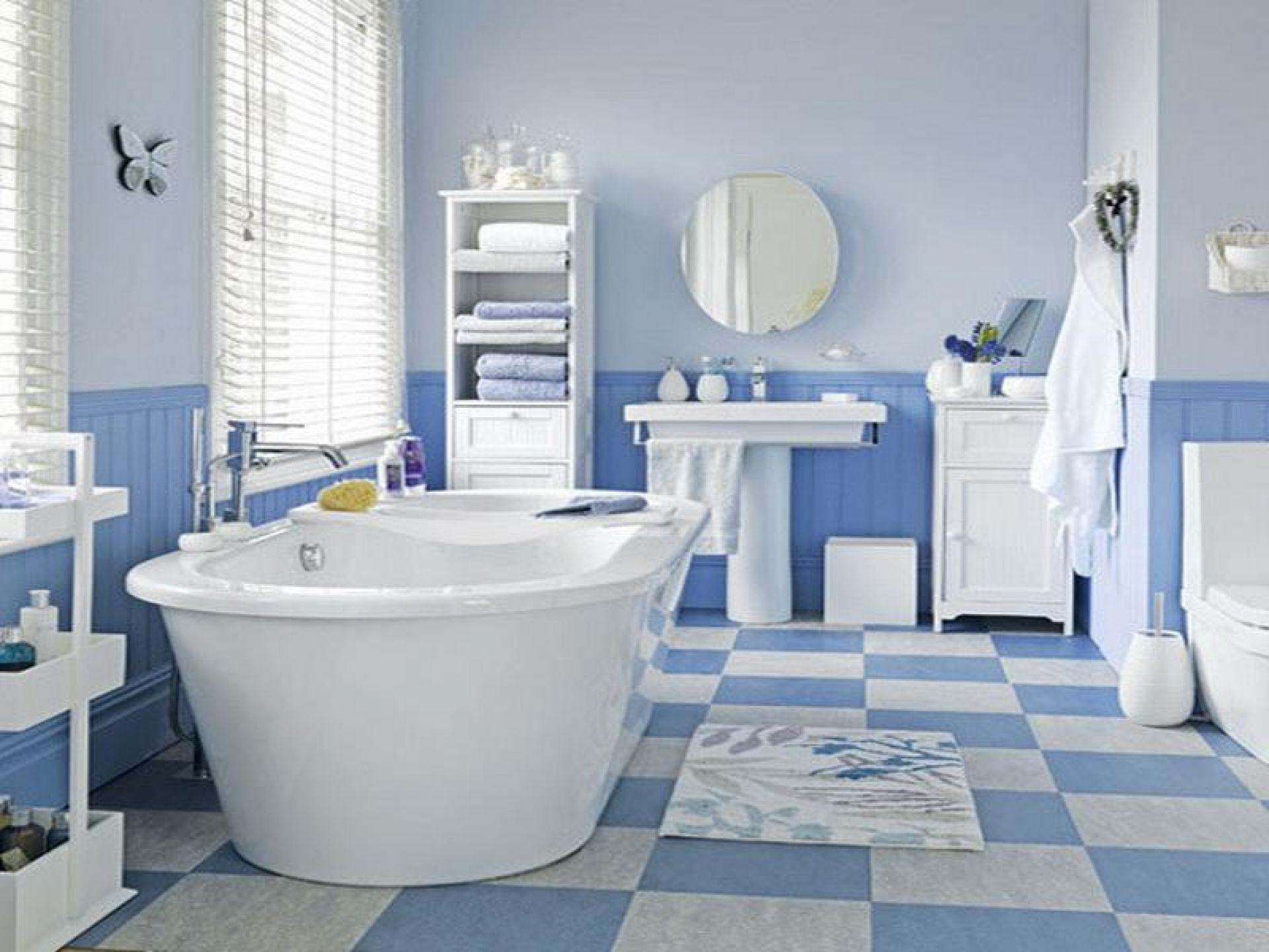 ванная бело синяя фото