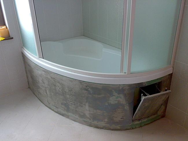 Экран для угловой акриловой ванны своими руками 2