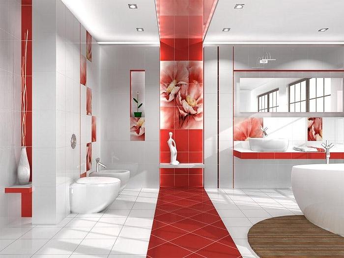 Кафель для ванны интерьер