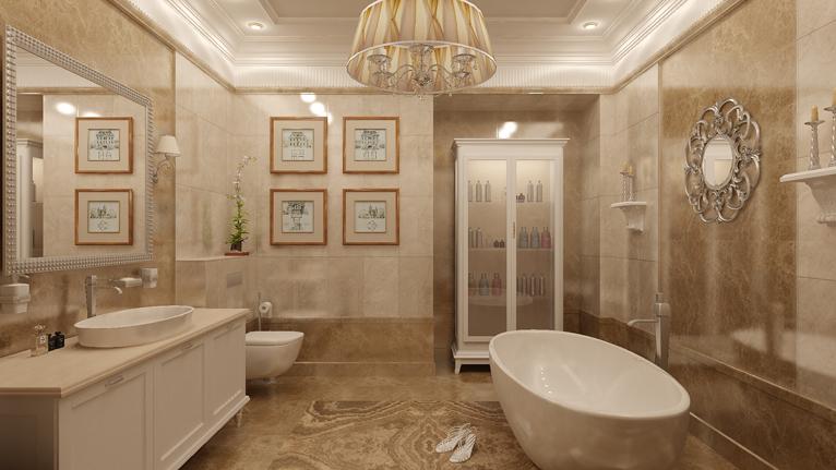 Дизайн ванная комната классика мебель в ванну токио