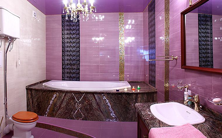 Ванная дизайн коричневая с бежевым 97