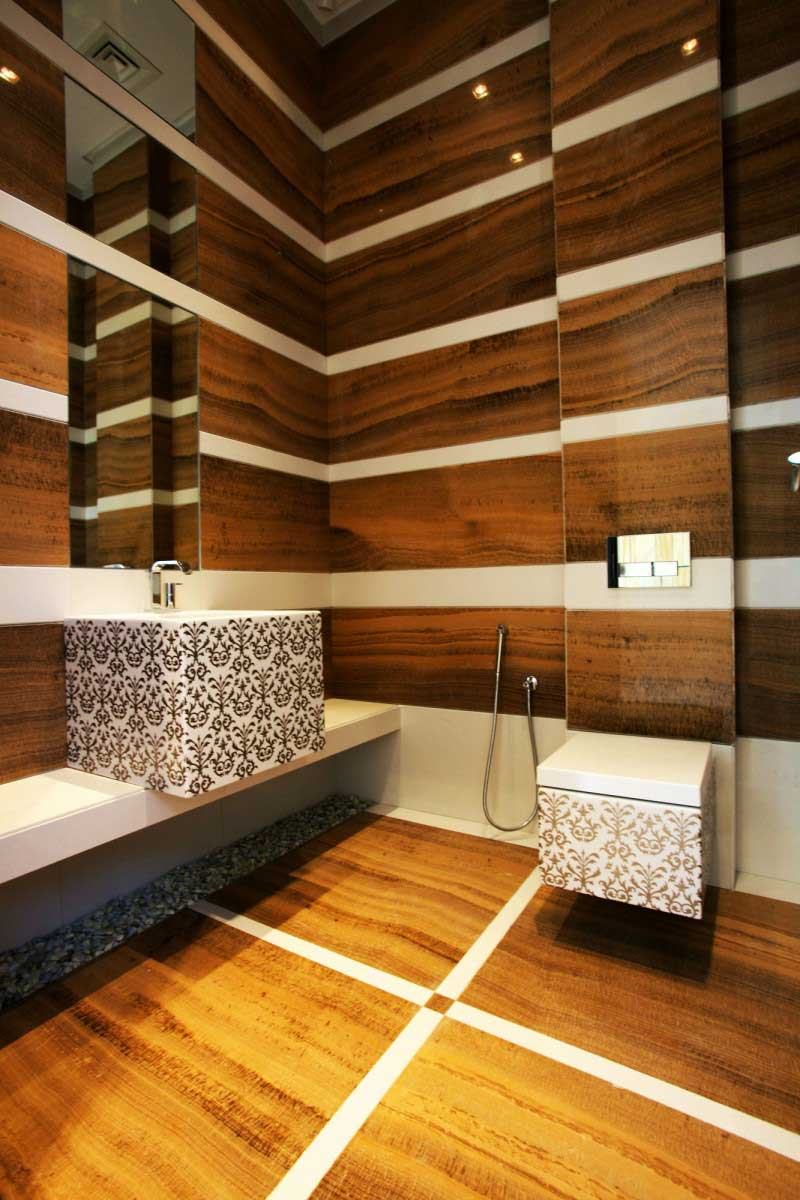 отделка деревом ванной комнаты фото