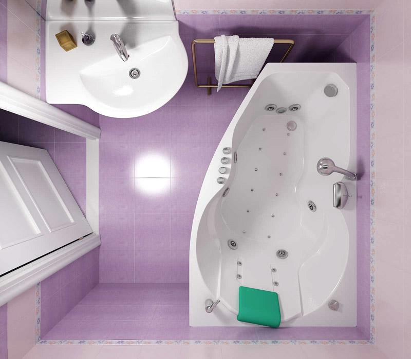 дизайн ванных комнат с угловой ванной 1