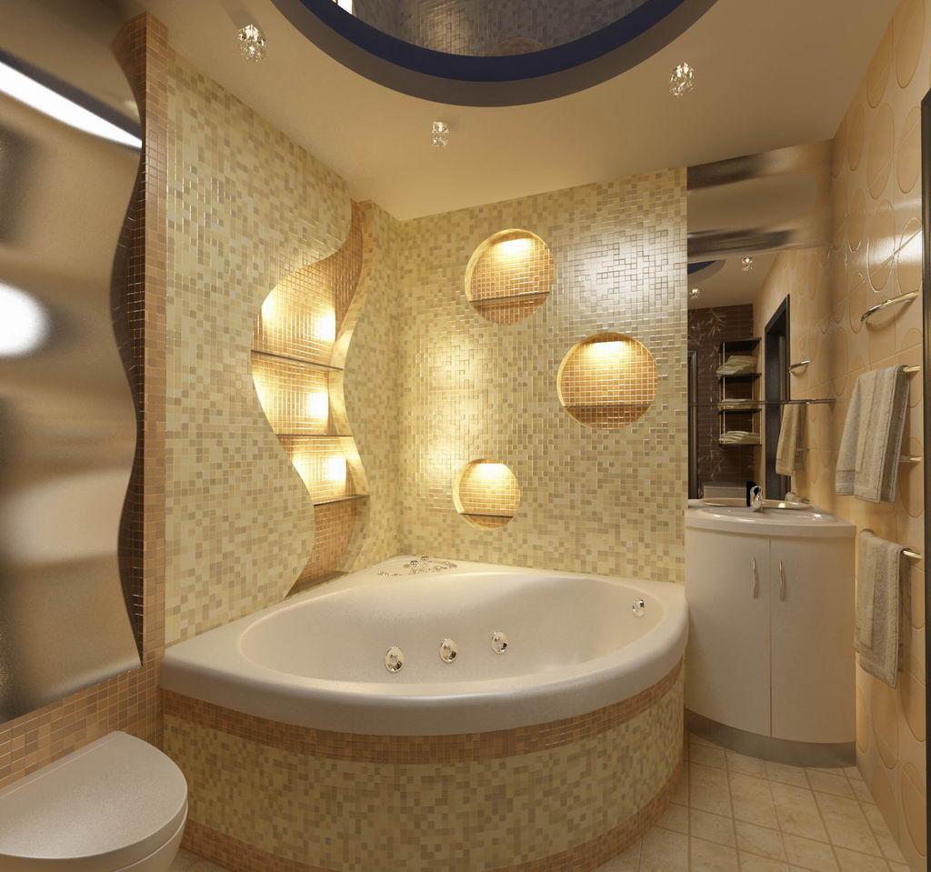Угловые ванные комнаты фото