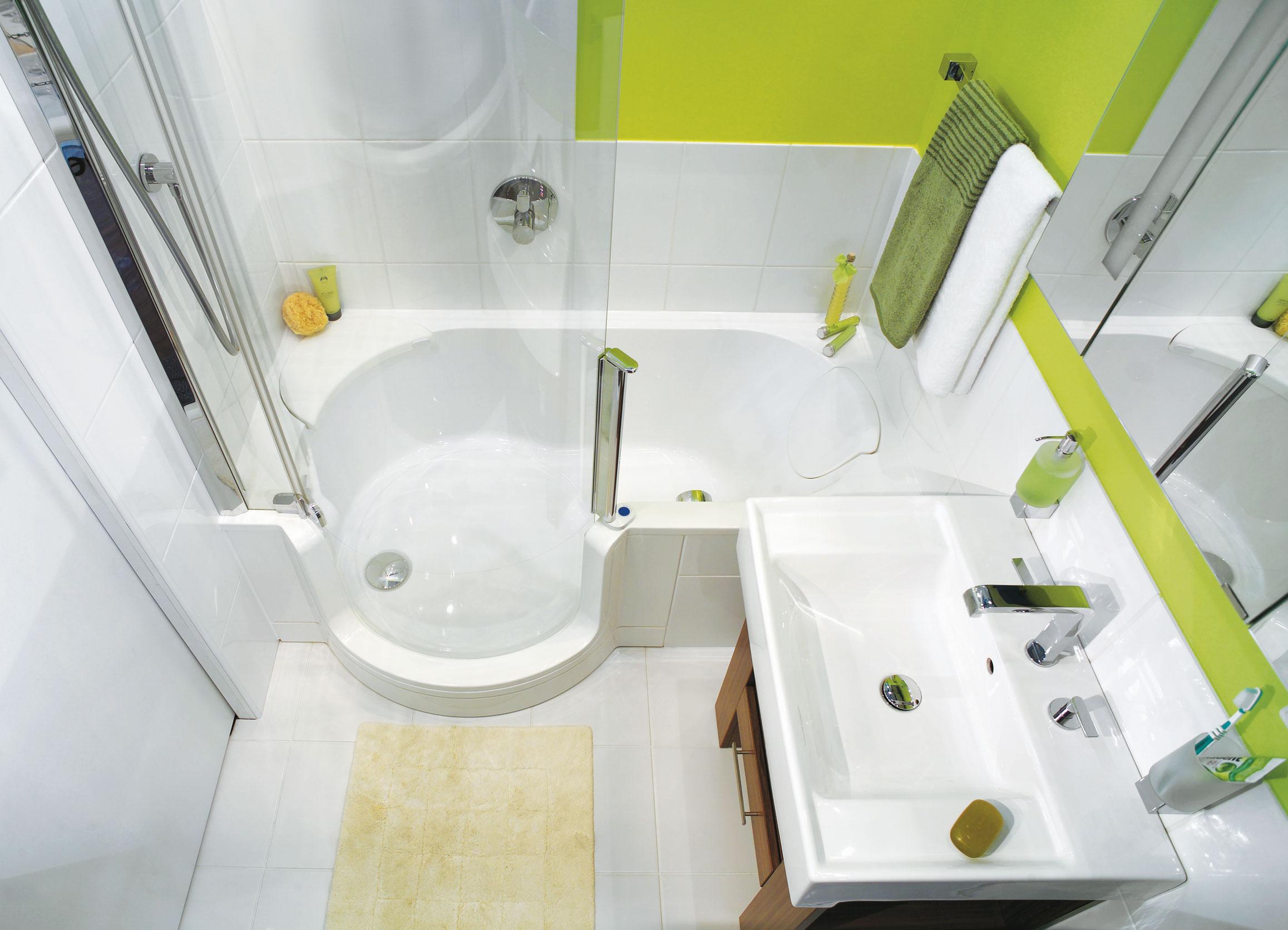 Дизайн для маленькой совмещенной ванной комнаты