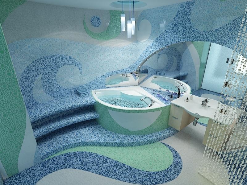 потолок в ванной комнате из плиток фото