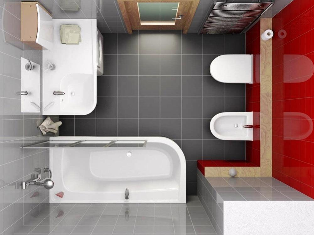 Интерьер маленькой ванны