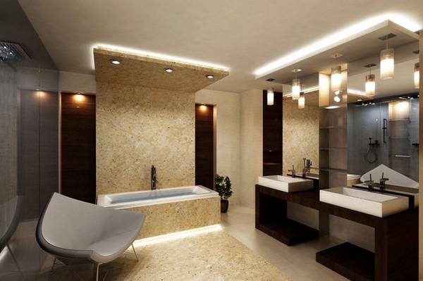Галогеновая подсветка ванной комнаты сантехник на чужой кухне