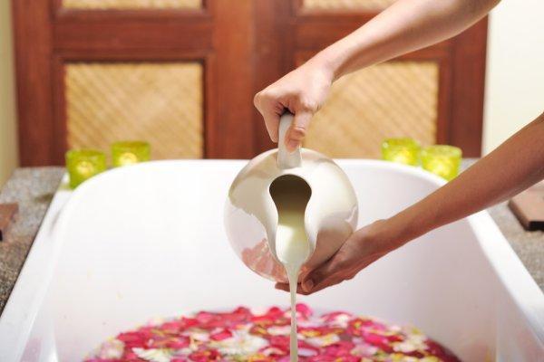 Ванны на молоке в домашних условиях