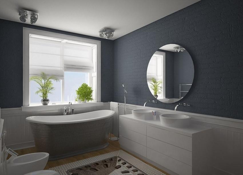 Ванная комната дизайн в сером цвете