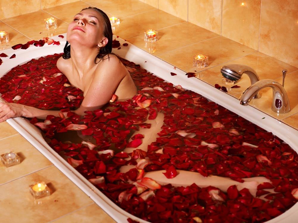 грудь в ванной фото