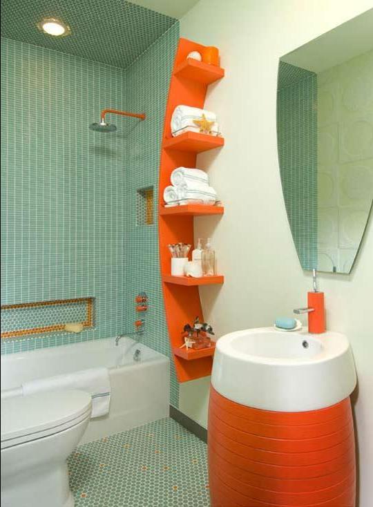 Ванная комната с душевой кабиной и туалетом