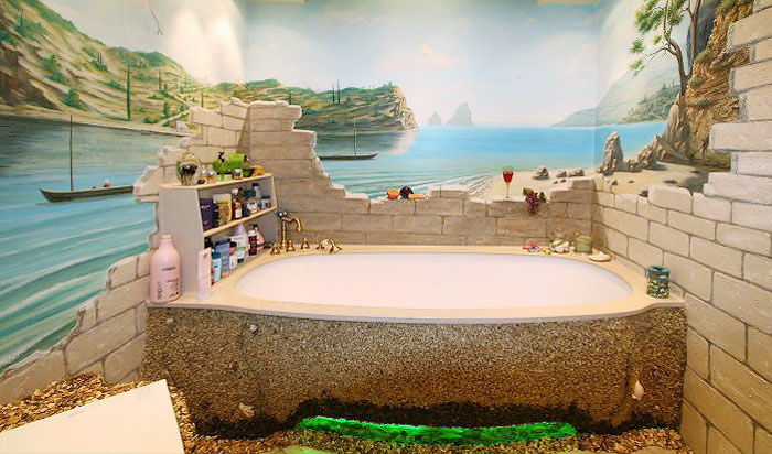 Дизайн ванной комнаты фото в морском стиле