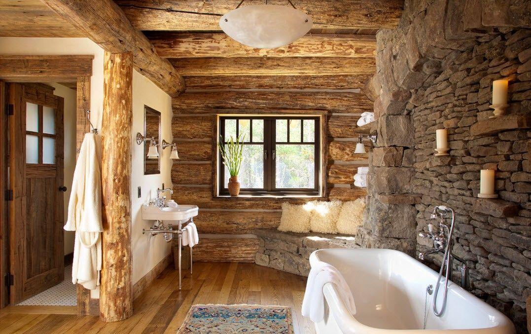Ванные комнаты кантри стиль интерьер ванной комнаты экраны