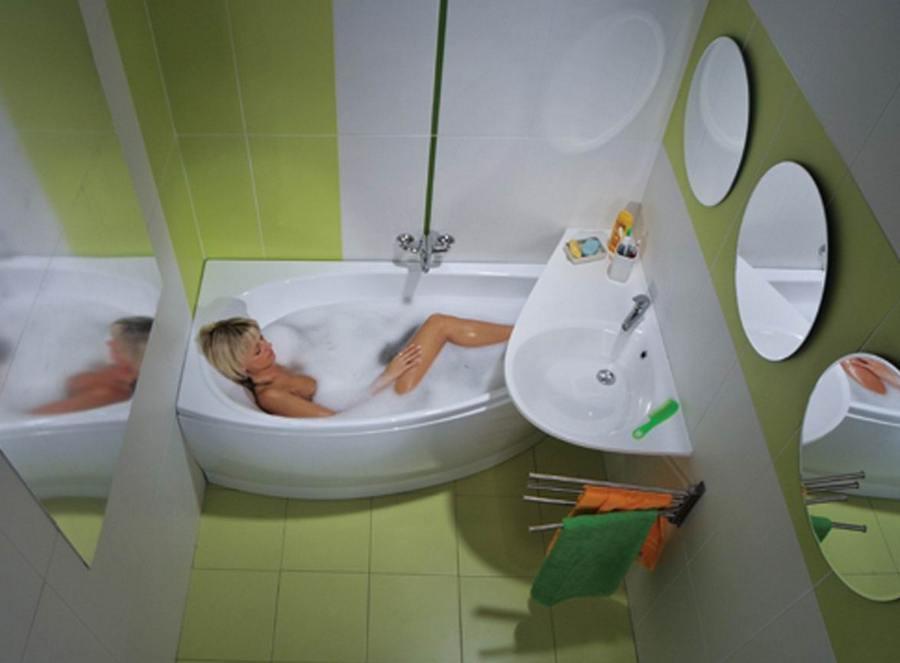 Интерьер ванной в брежневке фото