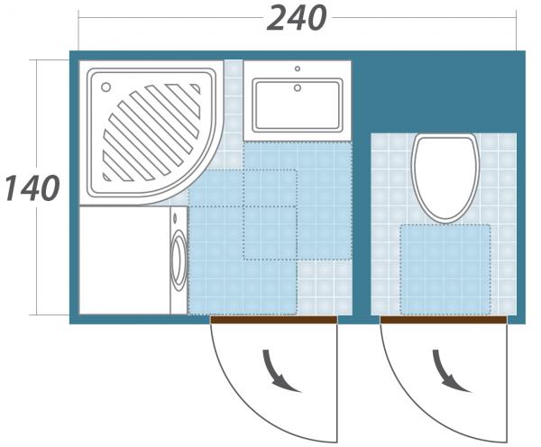 Дизайн ванной и туалета раздельных фото