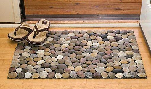 Коврик массажный из камней своими руками